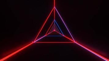 estructura metálica triangular con estilo abstracto