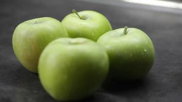 Green Apples On A Table
