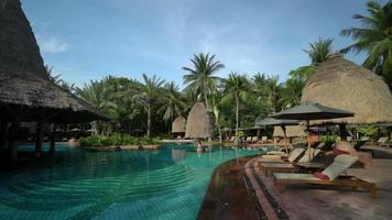 Outdoor Swimming Pool With Palm Trees