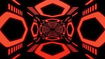bucle de túnel rojo