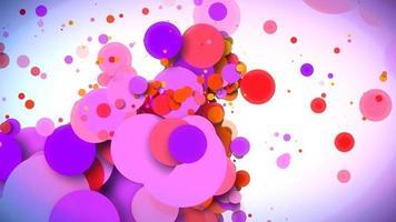 Fondo de círculos dinámicos coloridos