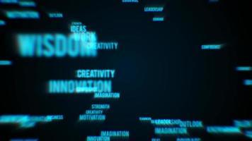 Revelación de texto de éxito empresarial abstracto video