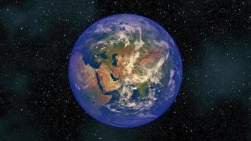 The Planet Earth Rotates in Space