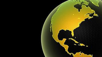 un globe terrestre graphique tourne video