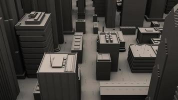 A City Aerial Flyover 3d Animation