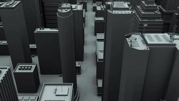 animación 3d de un paso elevado de la ciudad