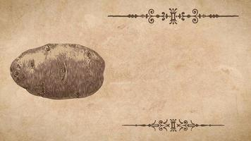 modello di ricetta di patate