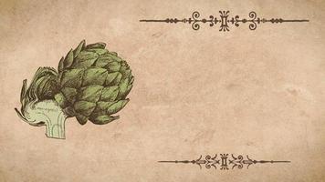plantilla de receta de alcachofa