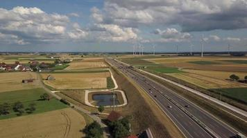 Highway A8 and Wind Turbines video