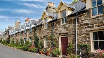 casas tradicionais de pedra escocesas video