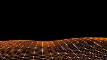 Plexo de renderização 3d voador futurista video