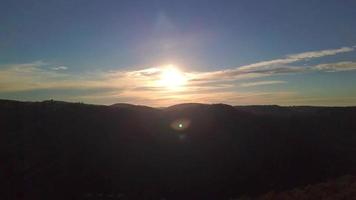 The Swabian Jura at sunset video