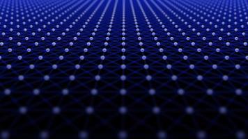 intro futurista 3d plexo pontos e linhas padrão abstrato tecnologia base video