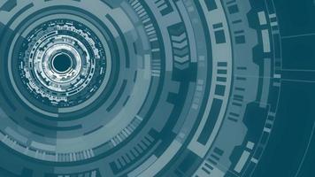 círculo de tecnologia futurista giratório abstrato