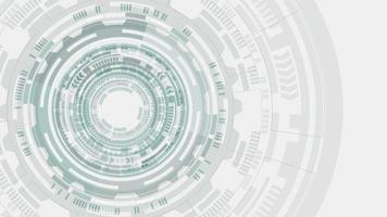 círculo de tecnología futurista girando abstracto