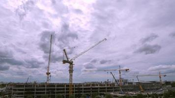 Time lapse motion video of the construction of the building