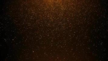 partículas flutuantes de poeira dourada