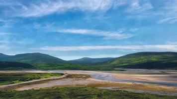 paisaje escocés con cielo azul video
