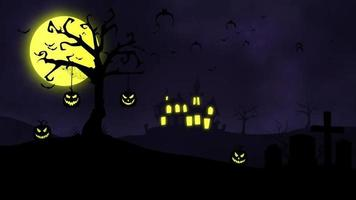 fundo de animação de halloween video