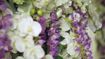 décor de mariage de fleurs video