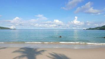 tropischer Strand mit Palmen