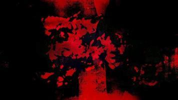 loop de fundo de terror grunge vermelho escuro
