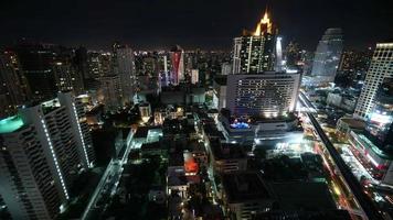 skyline della città di bangkok video