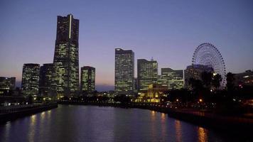 skyline van de stad Yokohama
