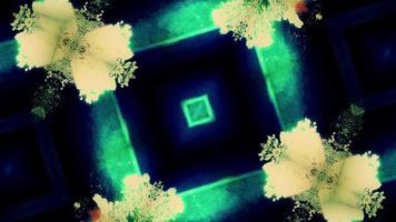 abstrakte kaleidoskopische Formen pulsieren und flackern video