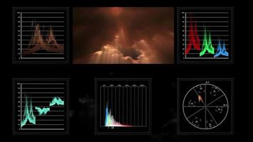 exibição de tela técnica de dados de vídeo pulsantes video