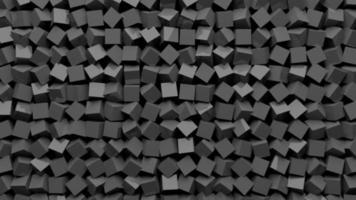 pequeños cubos grises giran y giran