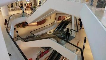 Time-lapse Of People Walking At A Mall
