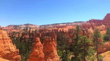 vista delle formazioni rocciose in bryce canyon 4K