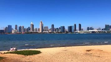 San Diego Skyline From Beach In San Diego 4K