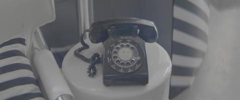 Old Telephone Over A Table video
