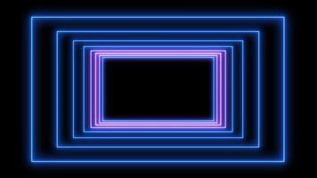 quadro abstrato de luz neon