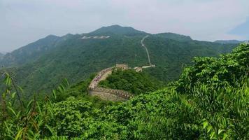 vue panoramique sur la grande muraille de Chine 4k video