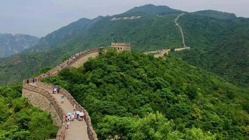 Aerial View of Great Wall of China 4K