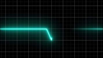 batimento cardíaco de néon em um fundo preto isolado