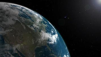 Earth Rotation Loop video