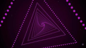 Purple Triangles With Swirl Tunnel