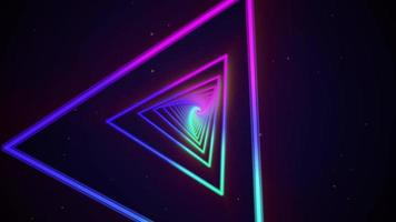 Colorful Triangles Neon Background