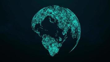 globo de plexo giratório 4k loop video