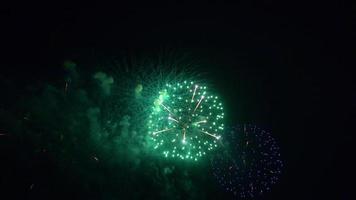 fogos de artifício para o fundo video