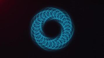 Abstract Glowing Rings Strokes Seamless Looping video