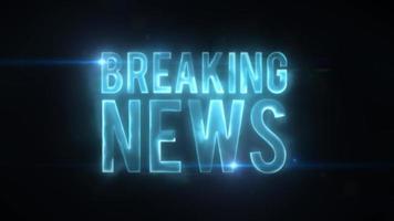 Aktuelle Nachrichten High-Tech-Hintergrund mit leichten Fackeln video