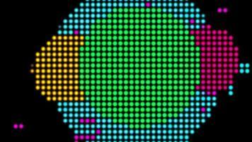fundo em loop de animação em mosaico abstrato pontilhado