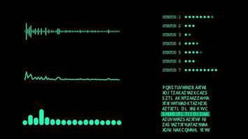 gráfico digital hud 2d verde video