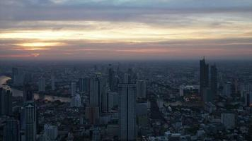 paisaje urbano de bangkok en tailandia video