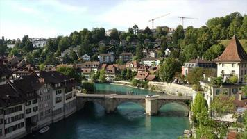 timelapse bern city, capital da suíça video